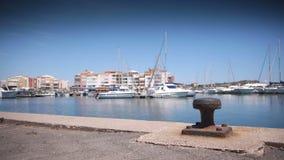 Роскошная гавань на Средиземном море, южной Франции акции видеоматериалы