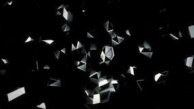 Роскошная голубая предпосылка кристаллической фасетки акции видеоматериалы