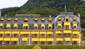 Роскошная гостиница в Монтрё, Швейцарии стоковая фотография