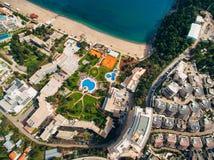Роскошная гостиница сложное Dukley в Budva, Черногории Стрельба с Стоковая Фотография