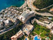 Роскошная гостиница сложное Dukley в Budva, Черногории Стрельба с Стоковая Фотография RF