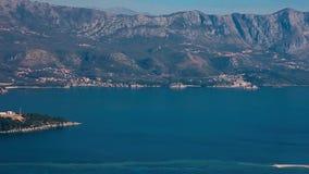 Роскошная гостиница сложное Dukley в Budva, Черногории Стрельба с сток-видео