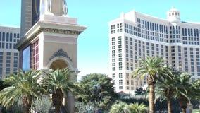 Роскошная гостиница Bellagio дальше ОКОЛО 2014 в Лас-Вегас видеоматериал