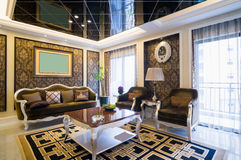 Роскошная живущая комната Стоковая Фотография RF