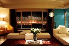 Роскошная живущая комната Стоковые Изображения