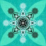 Роскошная зеленая флористическая предпосылка картины Стоковое Фото