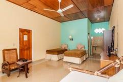 Роскошная и красивая двойная гостиница спальни Стоковые Изображения