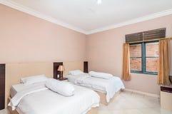 Роскошная и красивая двойная гостиница спальни Стоковые Изображения RF