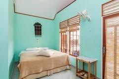 Роскошная и красивая гостиница спальни Стоковое фото RF