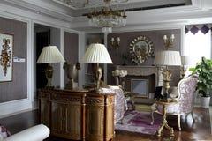 Роскошная и романтичная живущая комната Стоковое Изображение