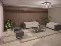 Роскошная и стильная живущая комната Стоковое Изображение RF