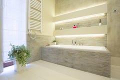 Роскошная каменная ванна Стоковые Изображения RF