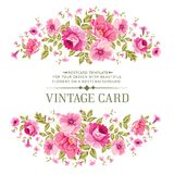 Роскошная карточка розы цвета бесплатная иллюстрация