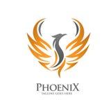 Роскошная концепция логотипа Феникса иллюстрация вектора