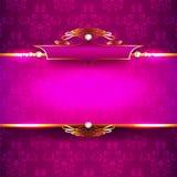Роскошная предпосылка с диамантами и орнаментами Стоковые Фотографии RF