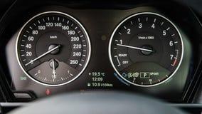Роскошная приборная панель автомобиля Стоковая Фотография RF