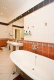 Роскошная ретро ванная комната Стоковые Изображения