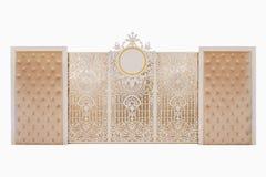 Роскошная свадьба фона на изолированной белой предпосылке Стоковые Изображения