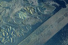 роскошная сезонная предпосылка 3D Листья темы падения выбитые на предпосылке Бумага искусства для творческих взглядов стоковое изображение rf