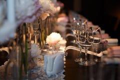 Роскошная сервировка таблицы блюда Стоковые Фото