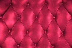Роскошная текстура стула кнопки кожи драпирования Стоковые Фотографии RF