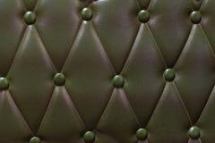 Роскошная темная ая-зелен кожаная кожа s предпосылки текстуры софы Стоковые Изображения RF