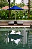 Роскошная установка бассейна курорта стоковые изображения