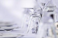 Роскошная установка ресторана Стоковое Изображение RF