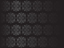 Роскошная черная иллюстрация флористических обоев Стоковое Фото