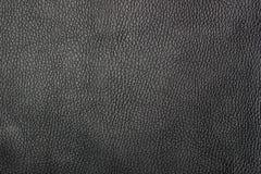 Роскошная черная кожаная предпосылка текстуры Стоковое Изображение