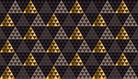 Роскошная чернота геометрии, золото и бежевый безшовный вектор иллюстрация вектора