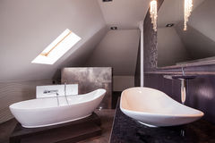 Роскошная элегантная ванная комната Стоковые Фото