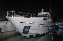 роскошная яхта взгляда ночи Стоковые Фото