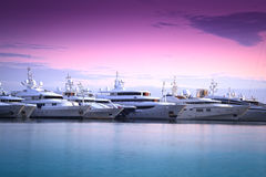 роскошная яхта Марины Стоковые Фото