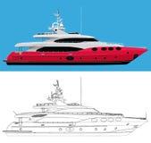 Роскошная яхта иллюстрация вектора