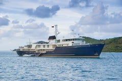 роскошная яхта Стоковое Изображение