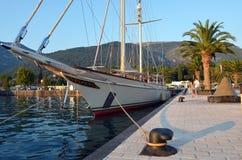 роскошная яхта sailing Стоковые Изображения