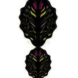 Роскошная afrabic белизна черноты мандалы Стоковая Фотография