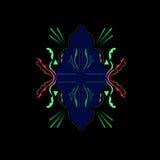 Роскошное арабское искусство/СИНЬ мандалы, ЧЕРНАЯ Стоковые Фото