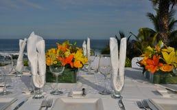 роскошное венчание таблицы установки 2 Стоковые Изображения