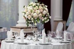 роскошное венчание таблицы установки приема Стоковое Фото