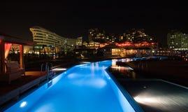 роскошное заплывание курорта бассеина стоковая фотография