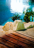 роскошное заплывание курорта бассеина Стоковые Фотографии RF