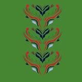 Роскошное искусство мандалы на зеленом цвете Стоковое Изображение