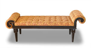 Роскошное кожаное изолированное кресло Стоковые Фото