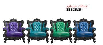 Роскошное кожаное кресло стоковое изображение rf