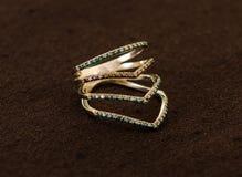 Роскошное кольцо с бриллиантом Стоковое Изображение