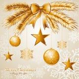 Роскошное с Рождеством Христовым fil вектора предпосылки EPS10 бесплатная иллюстрация