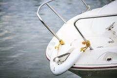 Роскошное yatch в порте Стоковая Фотография