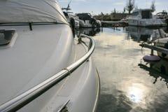 Роскошное yatch в порте Стоковые Изображения RF